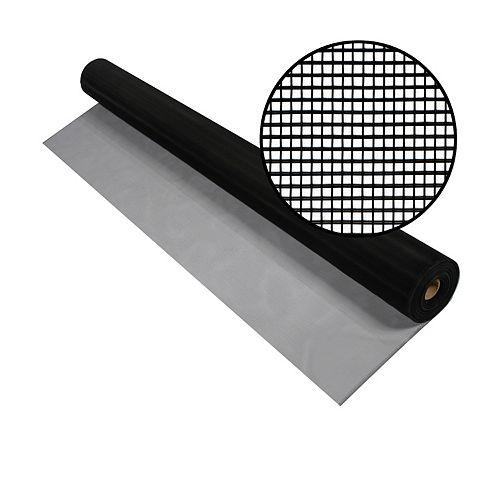 Phifer 60-inch x 100 ft. Black Aluminum Screen