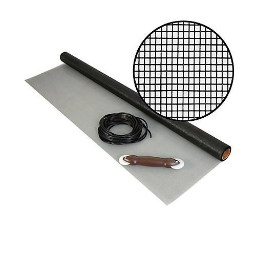 36-inch x 25 ft. fibreglass Charcoal Screen Kit
