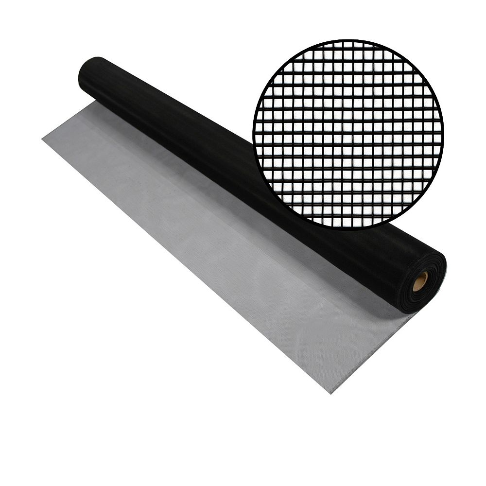Phifer 36-inch x 100 ft. Black Aluminum Screen