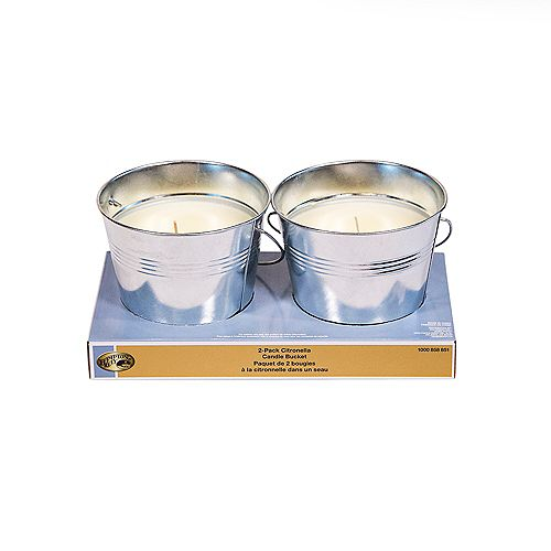 2 Pack Citronella Candle Bucket