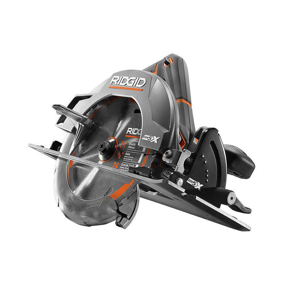 Ridgid Gen5x 18v 7 1 4 Inch Cordless Circular Saw Tool Only The Home Depot Canada