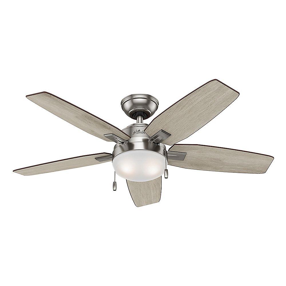 Hunter Antero 46-inch Indoor Ceiling Fan in Brushed Nickel