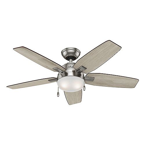 Antero 46-inch Indoor Ceiling Fan in Brushed Nickel