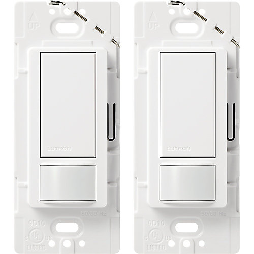 Maestro Single Pole Occupancy Motion Sensing Switch - White (2-Pack)
