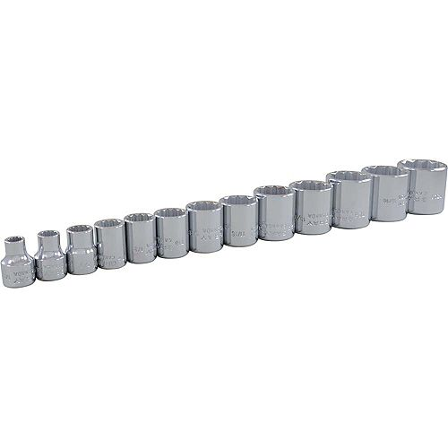 GRAY TOOLS 13-Piece Socket Set 3/8 Inch Drive 12 Point Standard Sae