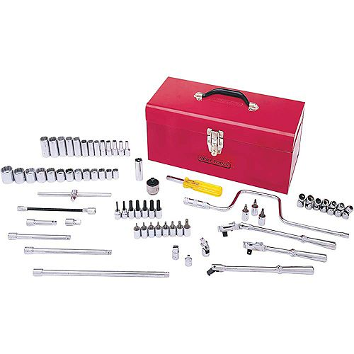 Socket & Attachments Set 68-Piece 3/8 Inch Drive 12 Point Standard Sae