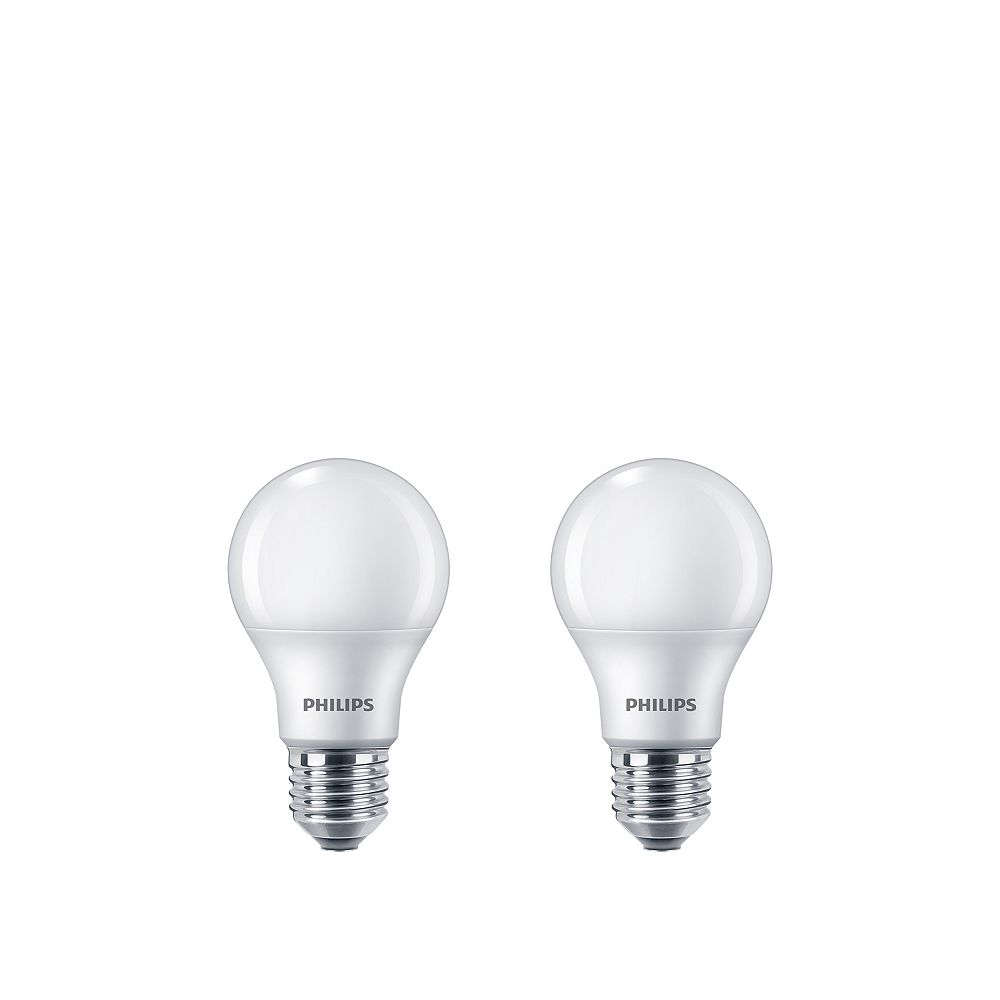Philips 40W Equivalent Daylight (5000K) A19 LED Light Bulb (2-Pack)