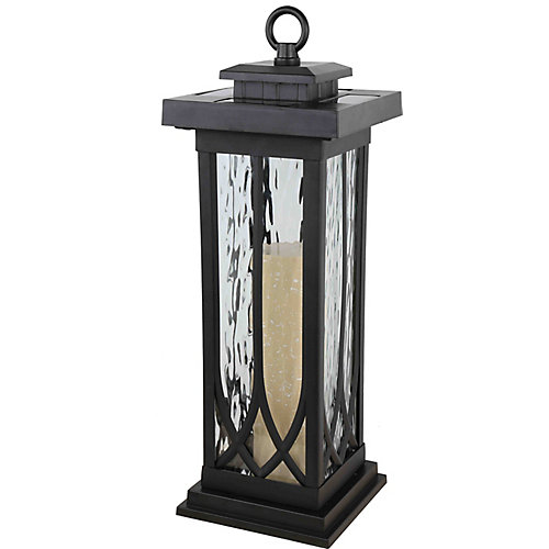 Lanterne de table LED solaire noire