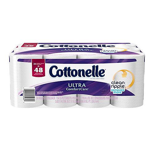 Papier hygiénique Ultra Comfort Care, 24 rouleaux doubles