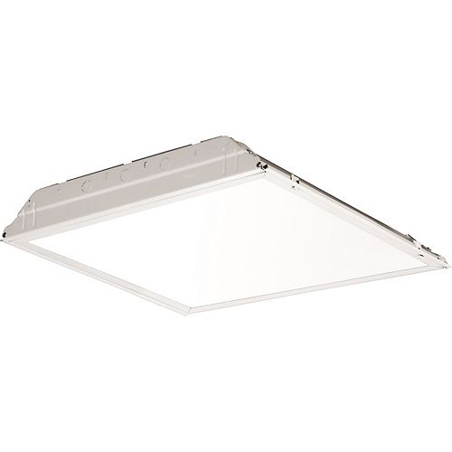 2 ft. x 2 ft. White LED Lay-in Troffer with Smooth White Lens