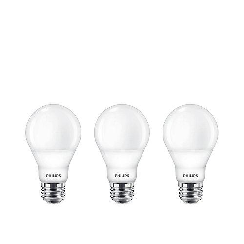 60W Equivalent Bright White (3000K) A19 LED Light Bulb ENERGY STAR (3-Pack)