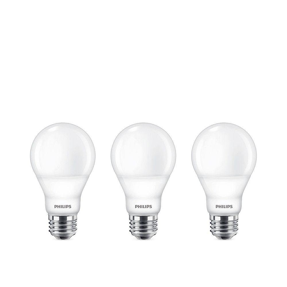 Philips 60W Equivalent Bright White (3000K) A19 LED Light Bulb ENERGY STAR (3-Pack)