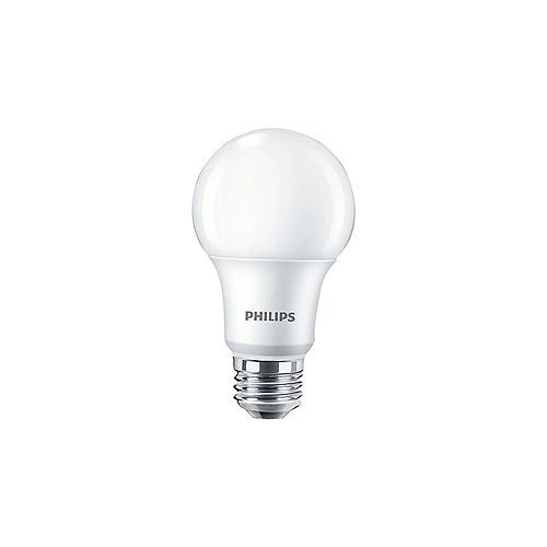 Philips Lampe de menage  A19 DEL 60 W   Lumière blanc brillant  (3 000 K)- ENERGY STAR®