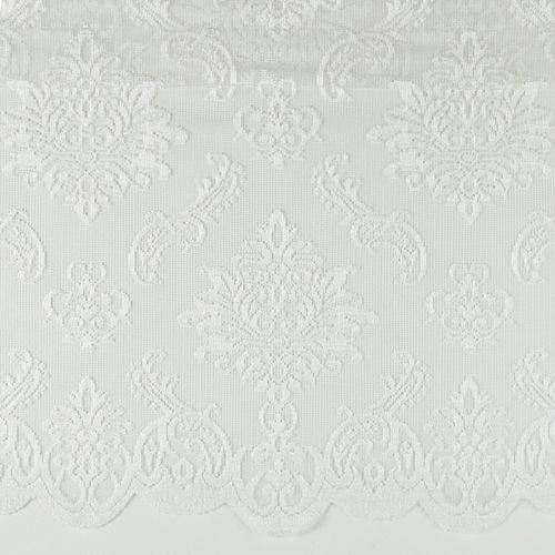 Panneau valance à ourlet passtringle, blanc, 50 x 16