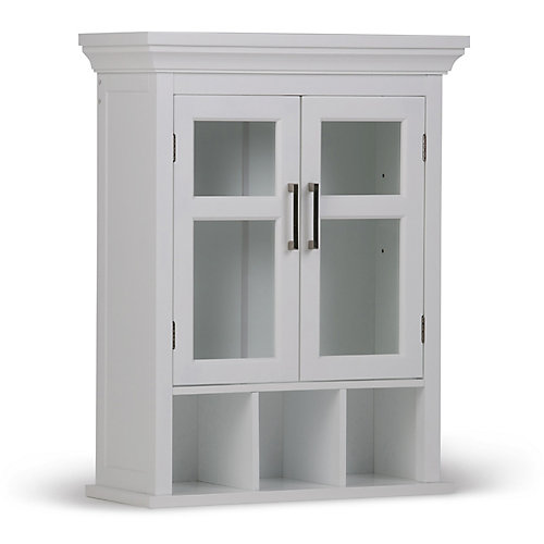 Avington 2-Door Wall Cabinet with Cubbies