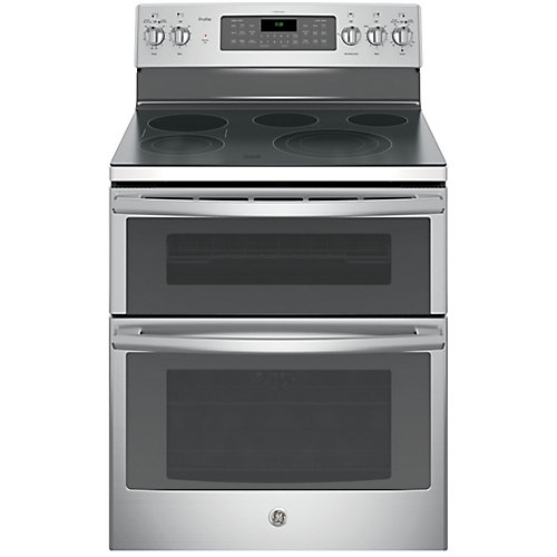 30-inch 6.6 cu. ft. Double Oven Electric Range with Self-Cleaning Convection Oven in Stainless Steel