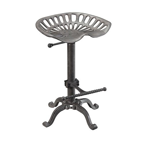 Adjustable Industrial Style Tractor Seat Bar Stool