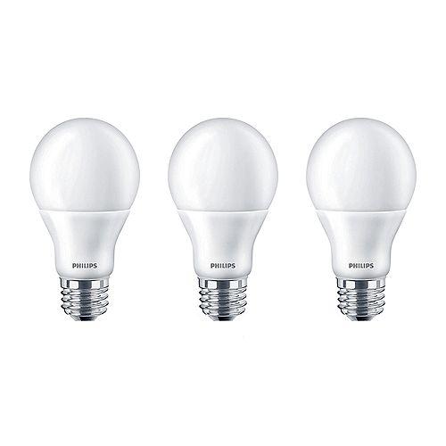 60W Equivalent Daylight (5000K) A19 LED Light Bulb  (3-Pack)