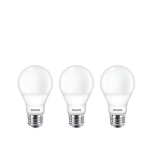 60W Equivalent Soft White (2700K) A19 LED Light Bulb (3-Pack)