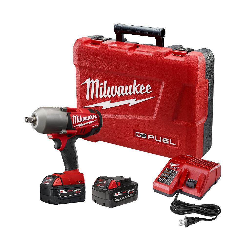 Milwaukee Tool M18 FUEL 18-Volt Lithium-Ion Cordless 1/2 in. High Torque Impact Wrench with Friction Ring Kit