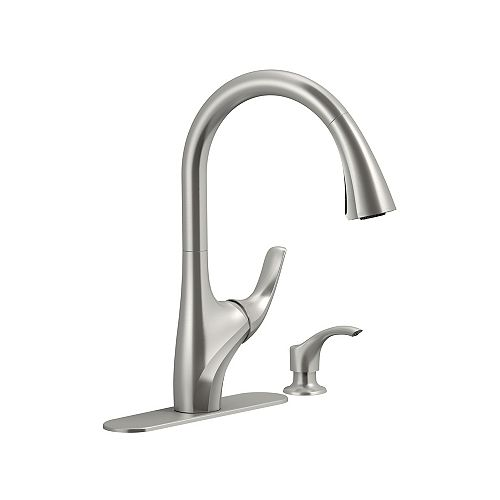 Trielle Pull-Down Kitchen Faucet in Vibrant Stainless