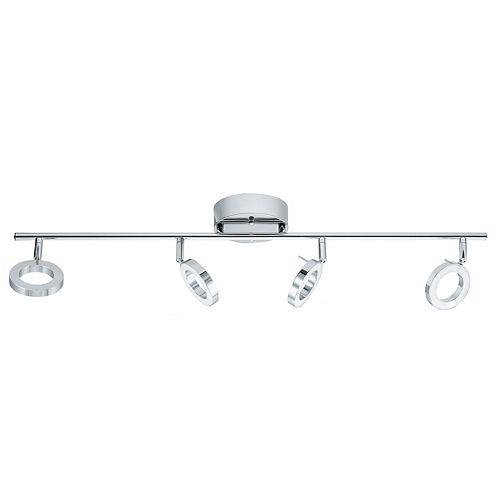 Eglo Naudella Luminaire sur Rail DEL 4L, Fini Chrome- ENERGY STAR®