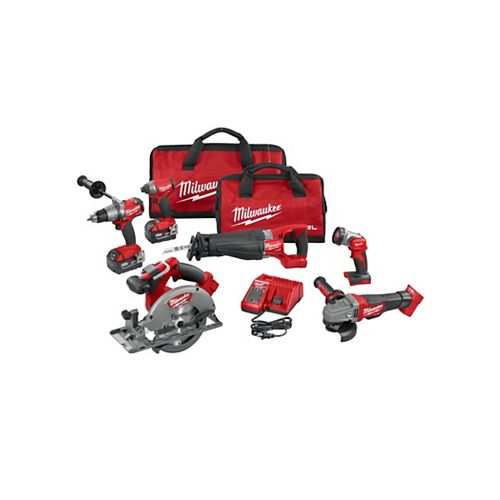 M18 FUEL 18V Lithium Ion Cordless Combo Kit (6-Tool)