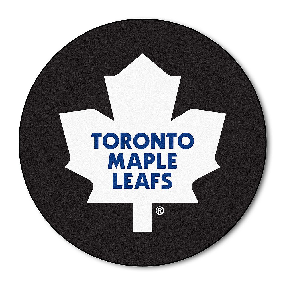 FANMATS Toronto Maple Leafs Black 2 ft. 3-inch x 2 ft. 3-inch Round Mat