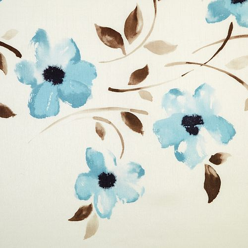 Panneau de draperie à œillets, bleu, 52 x 84