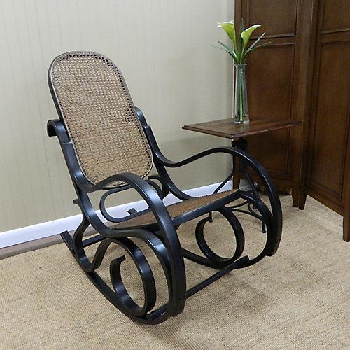 Chaise berçante Victoria Bentwood, noir ancien