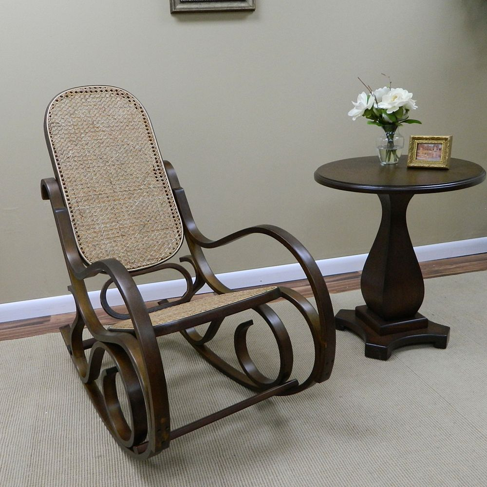 Carolina Classics Victoria Solid Wood Rocking Chair in Brown