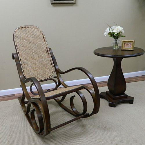 Chaise berçante Victoria Bentwood, châtaigne