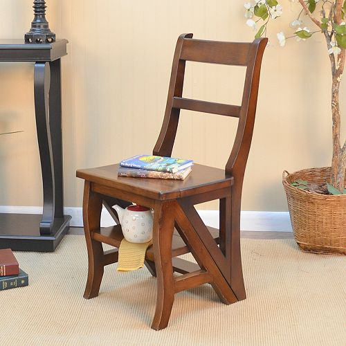 Accent Chair in Brown with Solid Pattern
