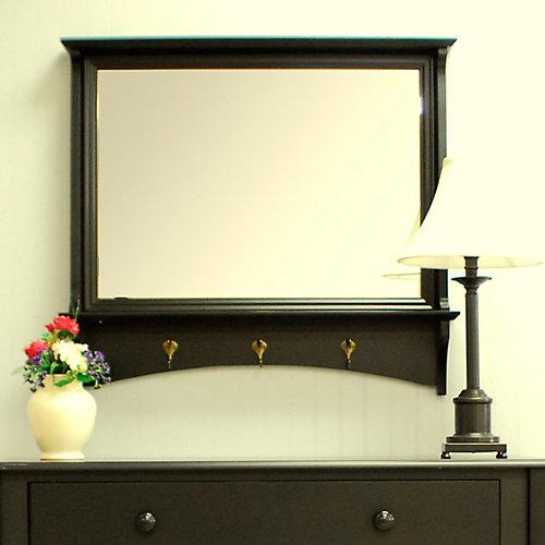 Miroir Winston. Noir ancien