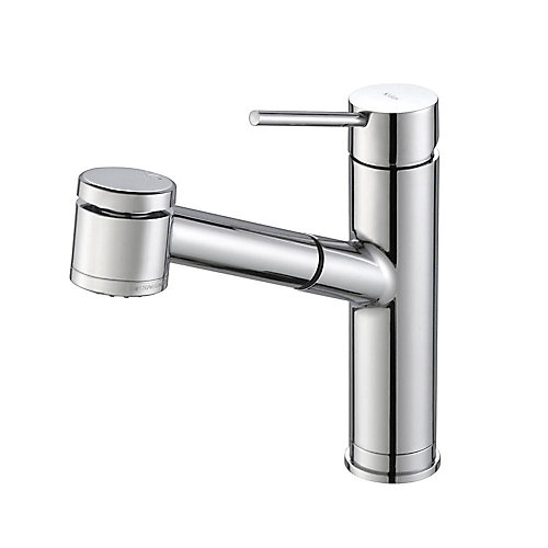 MateoSingle Lever Pull Out Kitchen Faucet Chrome