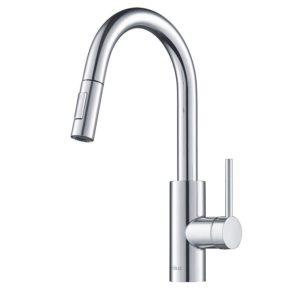 Kraus MateoSingle Lever Pull Down Kitchen Faucet Chrome