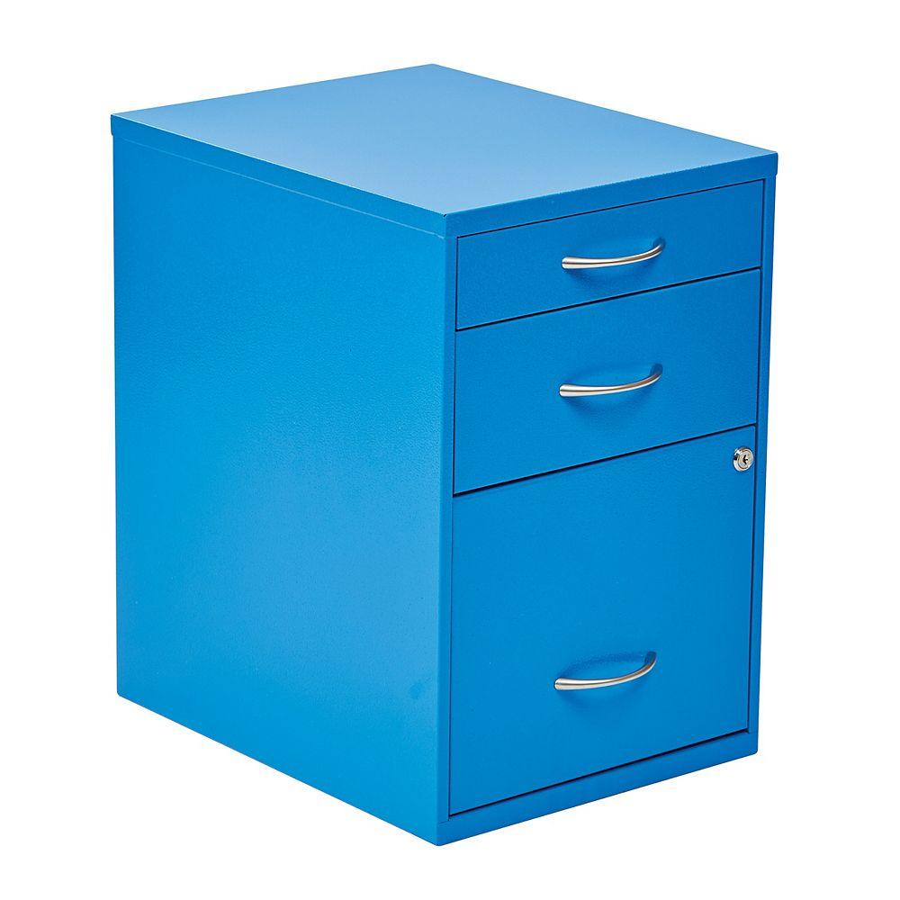 12 Inch Storage File Cabinet Blue