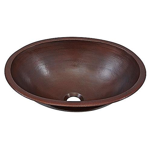 Schrodinger 17-inch Undermount Handmade Pure Solid Copper Bathroom Sink