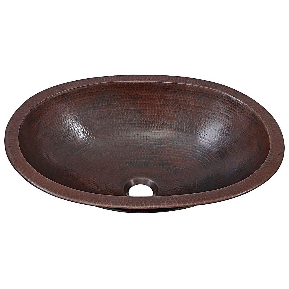 Sinkology Wallace 19-inch Dual Mount Bathroom Sink in Aged Copper