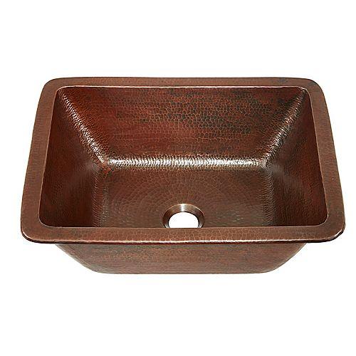 Hawking 17-inch Dual Mount Bathroom Sink in Aged Copper