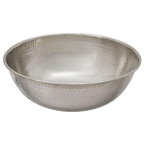 Bohr 14-inch x 5-inch x 14-inch Circular Metal Bathroom Sink