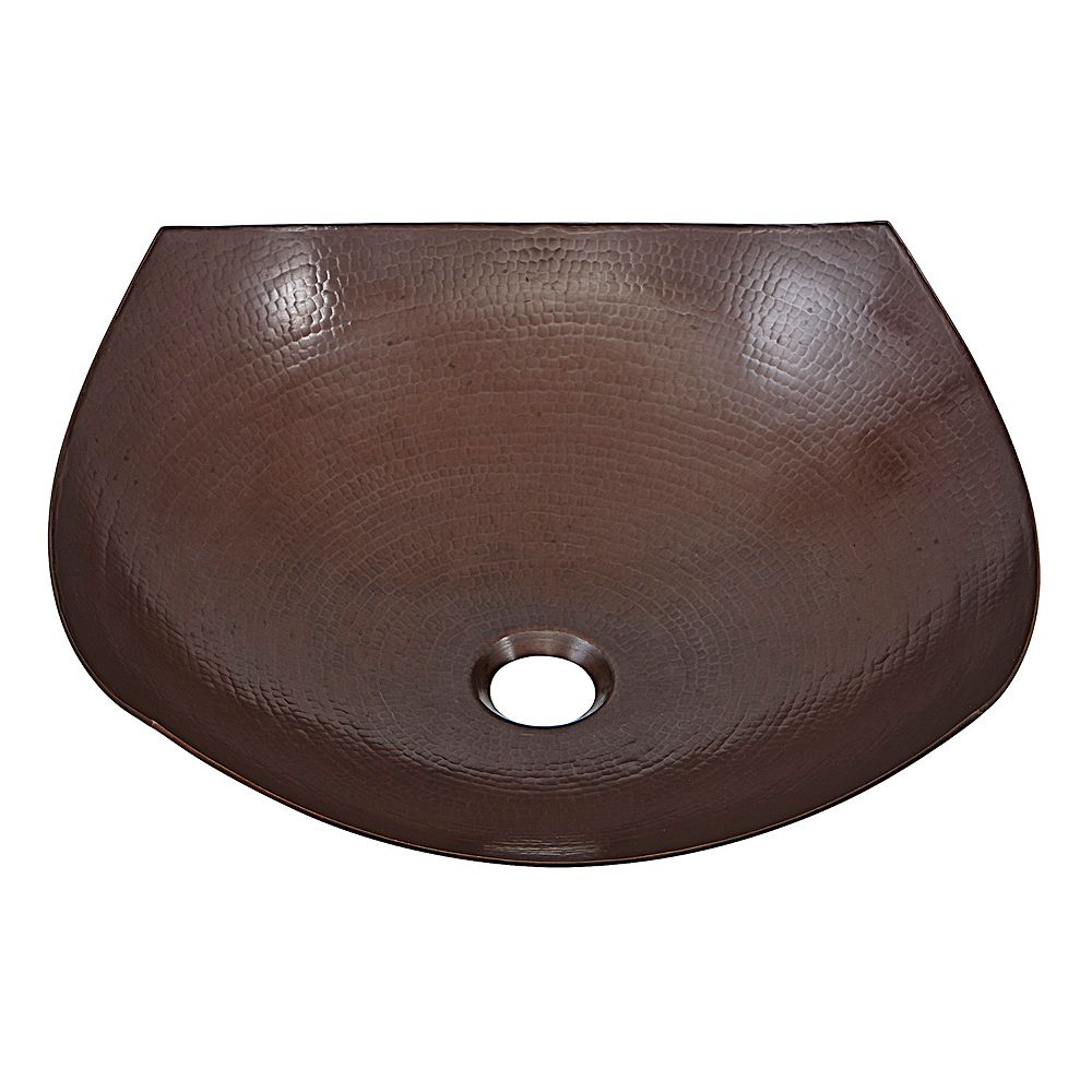 Sinkology Lovelace 16-1 / 2 in . Evier de navire en pur cuivre vieilli de fabrication artisanale