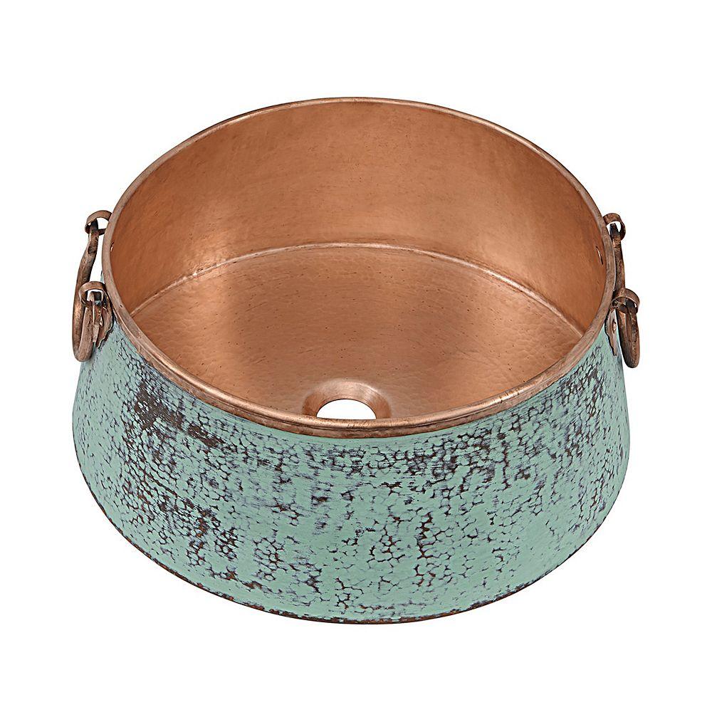 Sinkology Noble 16-inch x 7.25-inch x 16-inch Circular Copper Bathroom Sink