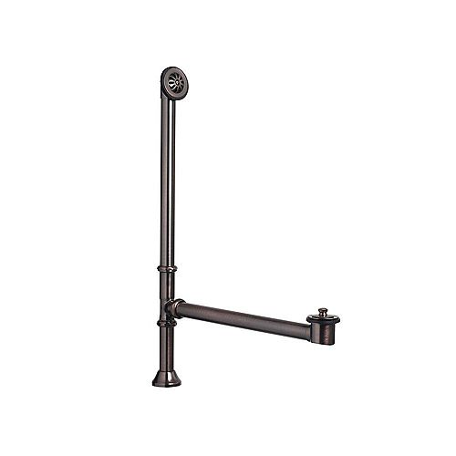 1-1/2 in. OD Brass Lift & Turn Bathtub Drain and Overflow Kit in Oil-Rubbed Bronze Finish