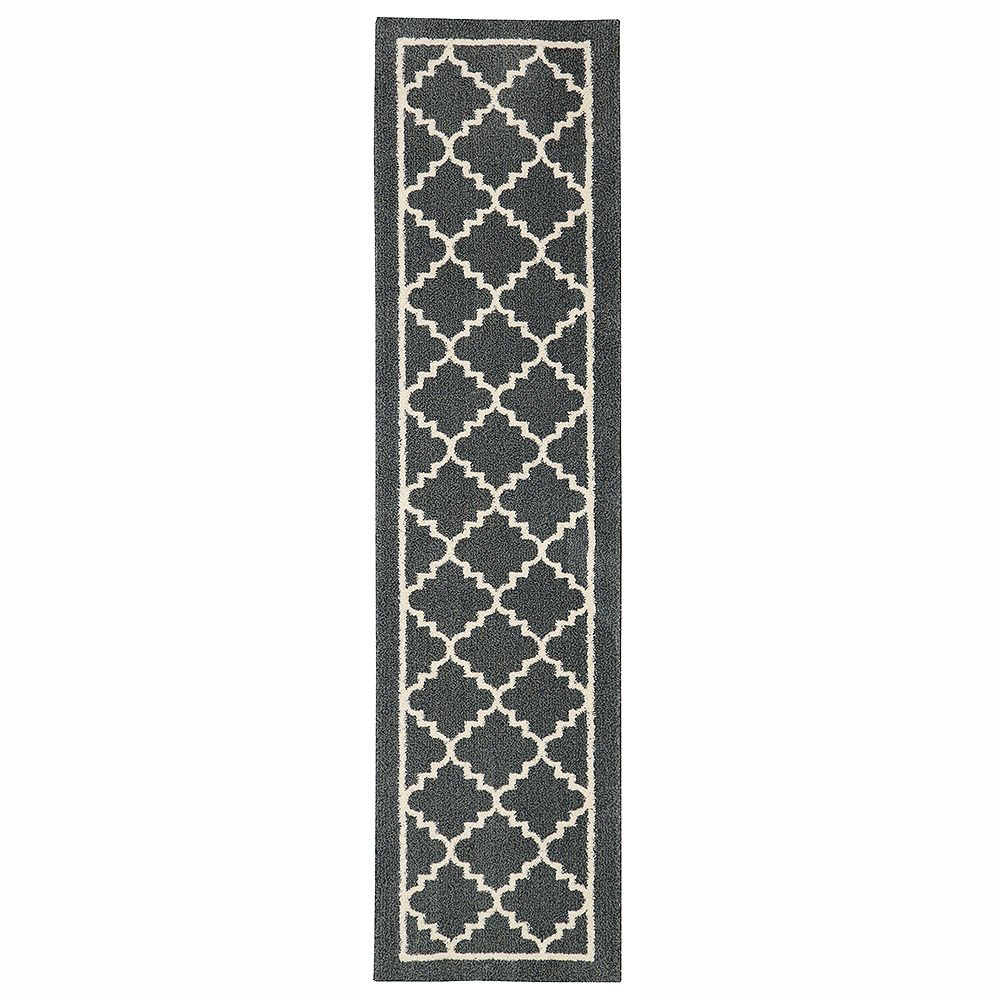 Home Decorators Collection Winslow Dark Slate 2 ft. x 8 ft. Runner
