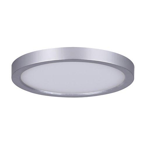 Lampe à disque rond à DEL en nickel brossé de 7 po à 1 lampe de 15 W - Lampe à encastrer Energy Star