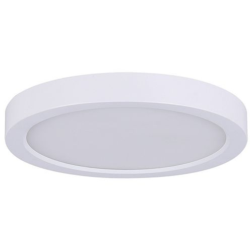 Lampe à disque rond à DEL blanche de 7 po de 1 po de 15 W pour montage affleurant - Energy Star