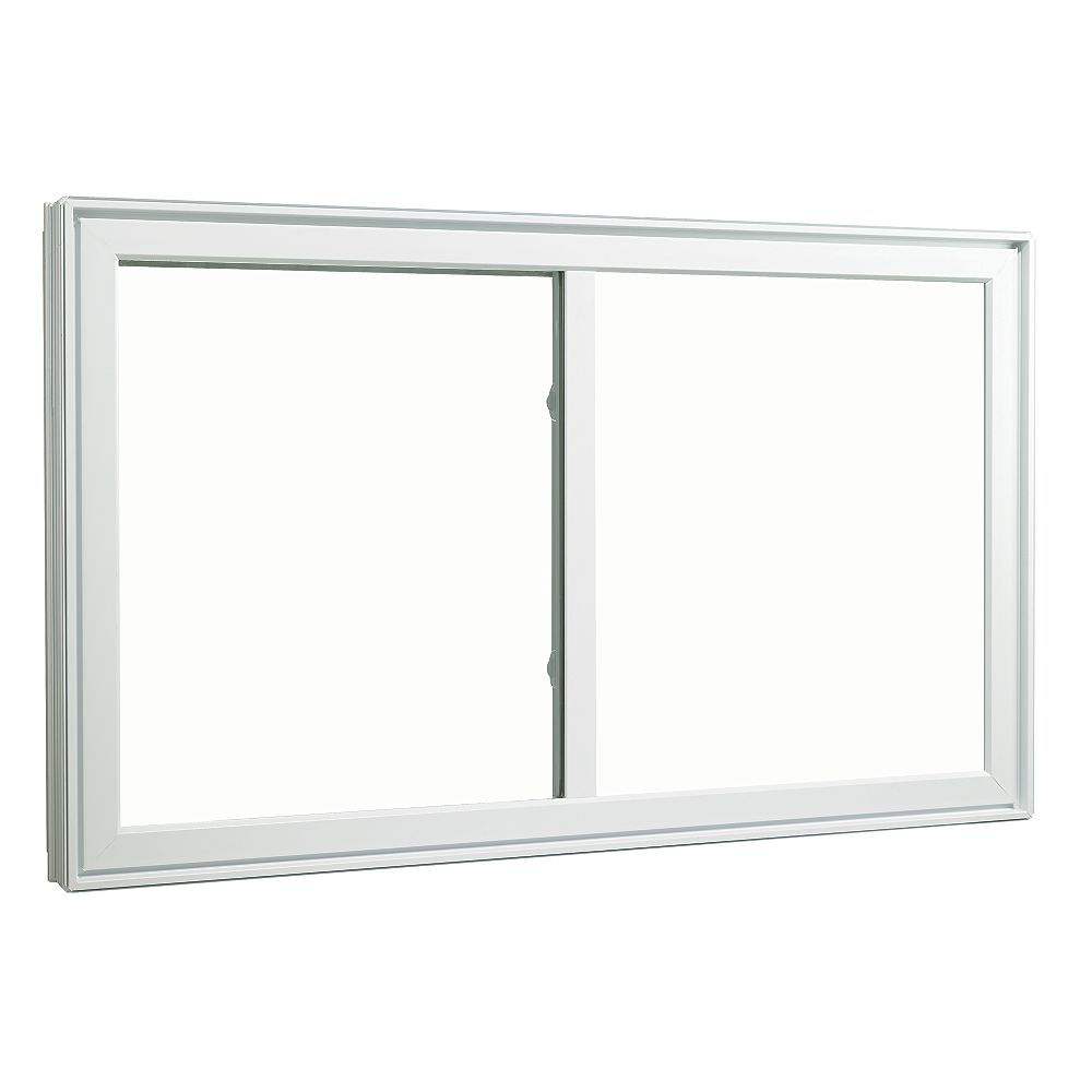 SOLENSIS 48 Inch X 48 Inch Vinyl Sliding Window with 4 1/2 Inch Frame - ENERGY STAR®