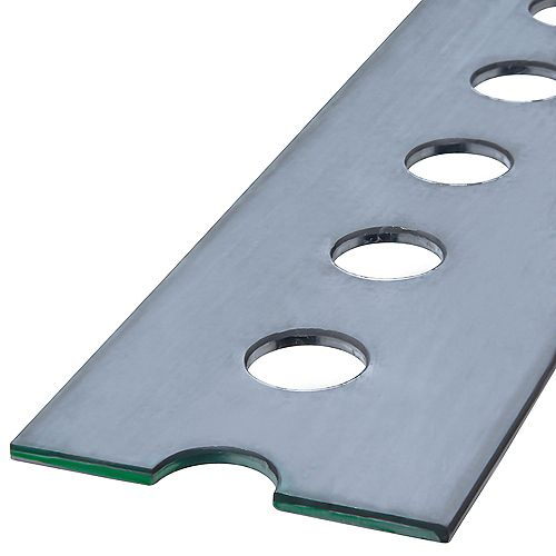 1-3/8 x 72-inch Slotted Steel Flat - Zinc Plated