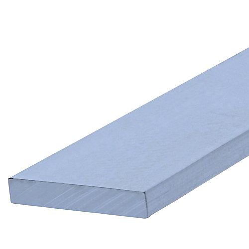 1/8X1X8Pi Plat En Aluminium